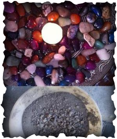 Earth & Gemstone Bowls for Dragon Altar